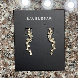 "Baublebar, ""ear crawler"" earrings"